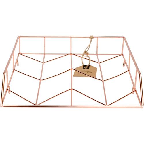 Wire Letter Tray 1/Pkg-Copper -855U0112 - 812296028558