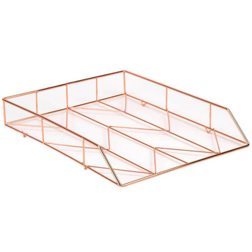 Wire Letter Tray 1/Pkg-Copper -855U0112