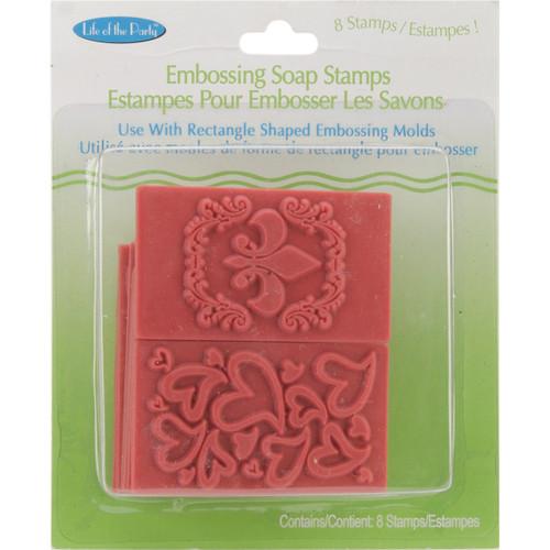 Soap Embossing Stamp Assortment 8/Pkg-Rectangle -61507 - 649979615077