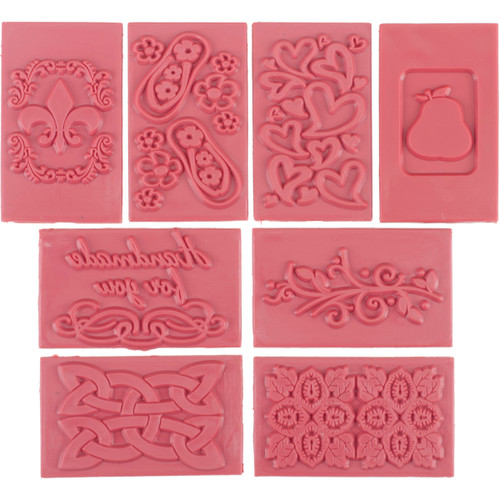 Soap Embossing Stamp Assortment 8/Pkg-Rectangle -61507