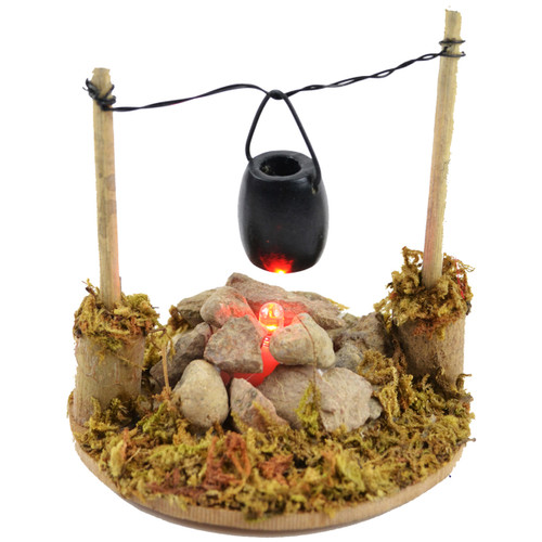 "Fairy Garden LED Fire Pit W/Cooking Pot-3.25"" -50803"