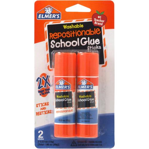 Elmer's Repositionable School Glue Sticks 2/Pkg-.53oz -E627 - 026000006279