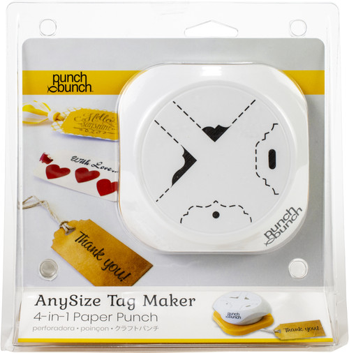 Punch Bunch AnySize Elegant Tag Maker-4-In-1 Corner And Hole Punch -SL9 - 819777024849
