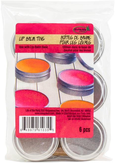 Lip Balm Tins 6/Pkg-61035 - 649979610355