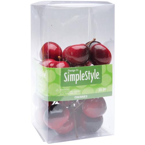 Design It Simple Decorative Fruit 25/Pkg-Mini Cherries -RS9807 - 046501063441
