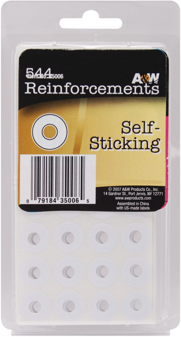 Self-Sticking Reinforcements-White 544/Pkg -35006 - 079184350065