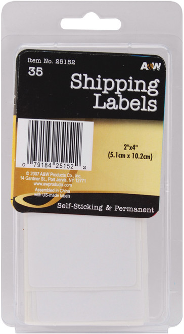 """Labels-Shipping 2""""X4"""" 35/Pkg -AW251-52 - 079184251522"""