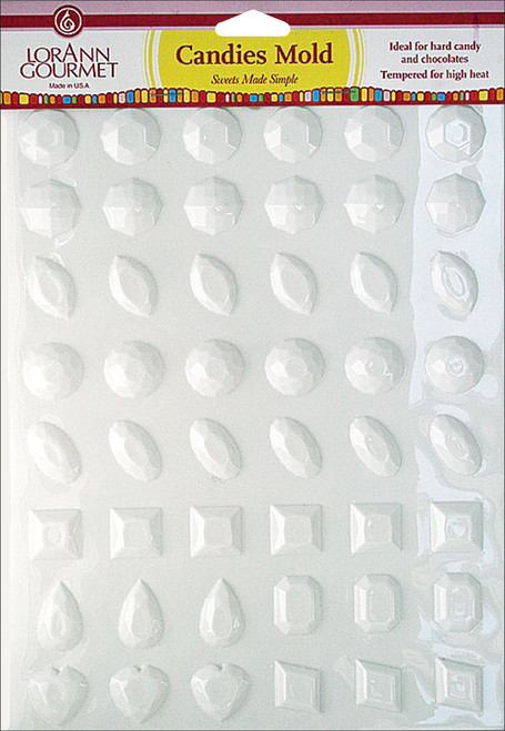 Breakup Candy Mold-Jewels 48 Cavity (10 Designs) -LMSM-5486 - 023535054867