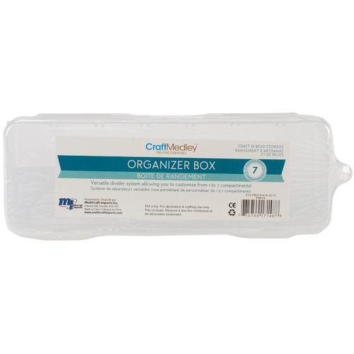 """Organizer Box W/Lid & 6 Dividers-6.75""""X2.25""""X1.1875"""" -PB818 - 775749171488"""
