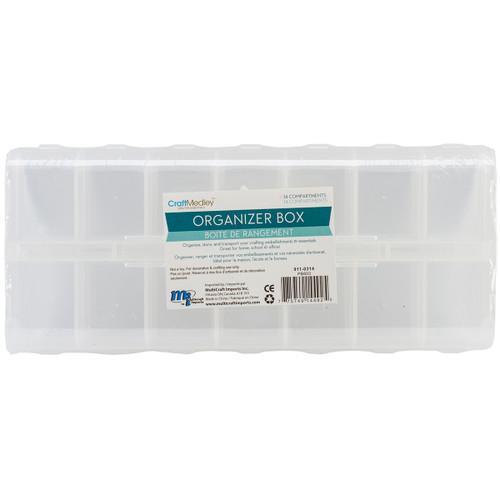 """Organizer Box W/Snap Lids 14 Compartments-9""""X4""""X1"""" -PB803 - 775749144925"""