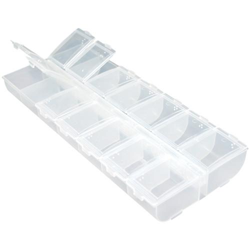 """Organizer Box W/Snap Lids 14 Compartments-9""""X4""""X1"""" -PB803"""