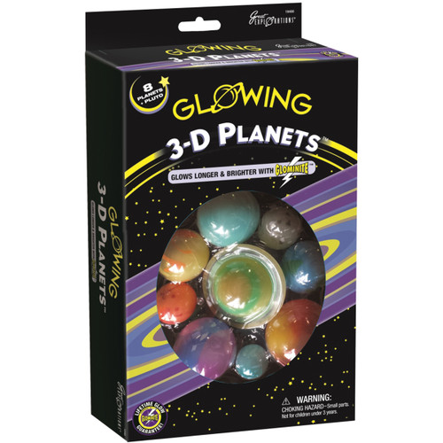 Glowing 3D Planets Kit-19466 - 040595194661