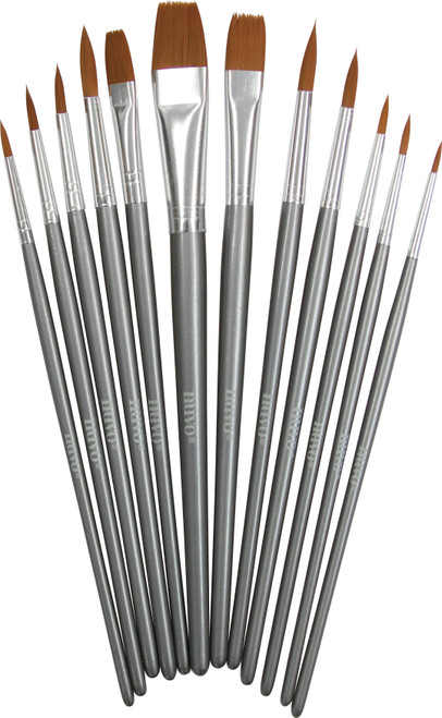 Nuvo Paint Brushes 12/Pkg-972N