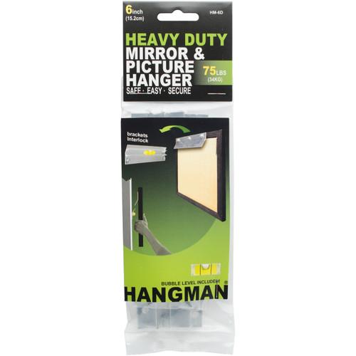 """Heavy Duty Hangman Mirror & Picture Hanger W/Walldogs 6""""-75lbs -HM-6D - 681391207287"""