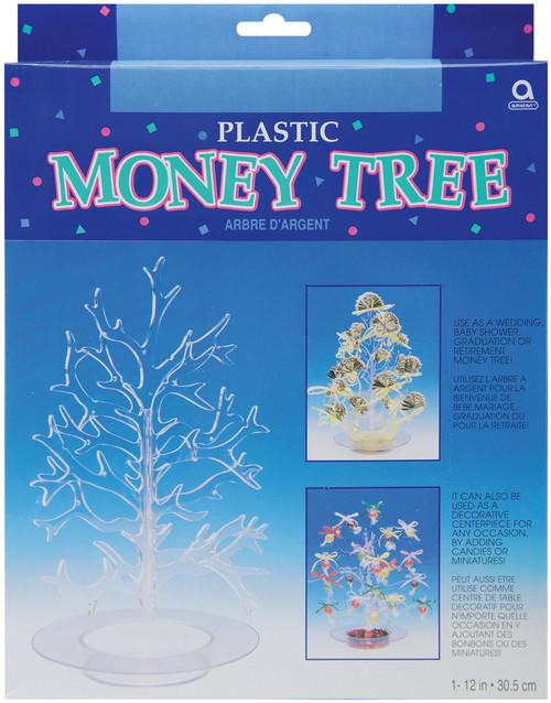 "Plastic Money Tree 12""-Clear Plastic -34095 - 048419344681"