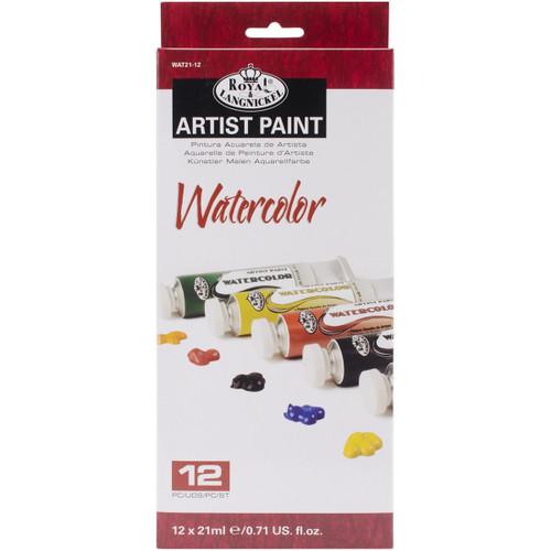 Watercolor Paints 21ml 12/Pkg-Assorted Colors -WAT21-12 - 090672065520