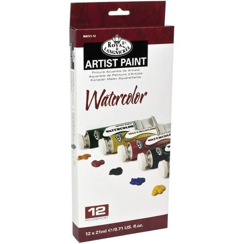 Watercolor Paints 21ml 12/Pkg-Assorted Colors -WAT21-12