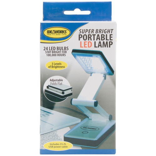 Frank A. Edmunds Super Bright Portable LED Lamp-White -JB6921 - 017874011414
