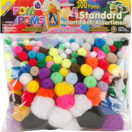 Pom-Poms Assorted 300/Pkg-Standard -POM-PMR - 725879819217