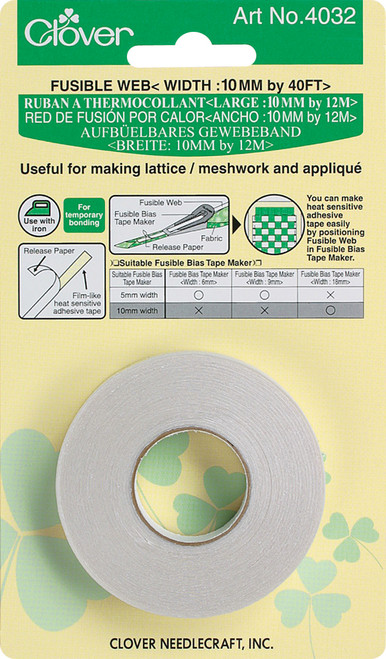 Clover Fusible Web Tape 10mmX40'-4032C - 051221528040