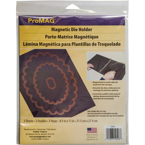 """ProMag Magnetic Die Holder Sheets 3/Pkg-8.5""""X11""""X.3"""" -AFG12513 - 015377125133"""