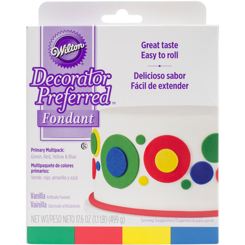 Decorator Preferred Fondant 4.4oz 4/Pkg-Primary -W102311 - 070896523112