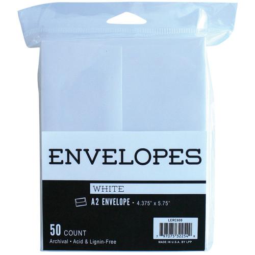 "Leader A2 Envelopes (4.375""X5.75"") 50/Pkg Peggable-White -LERC600 - 797075322549"