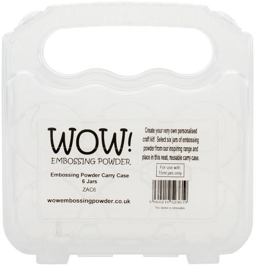 WOW! Embossing Powder Storage Case Empty-Holds 6 -ZAC6 - 5060210523619