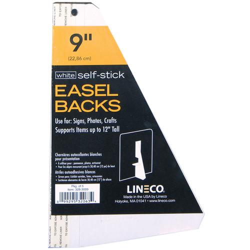 "Lineco Self-Stick Chipboard Easel Backs 5/Pkg-White Single-Wing 9"" -3283009 - 099295320634"