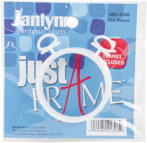 "Janlynn Just A Frame Round Hoop 2.5"" 2/Pkg-White -21-0308 - 049489213082"