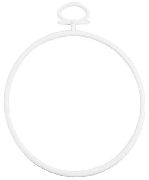 "Janlynn Just A Frame Round Hoop 2.5"" 2/Pkg-White -21-0308"