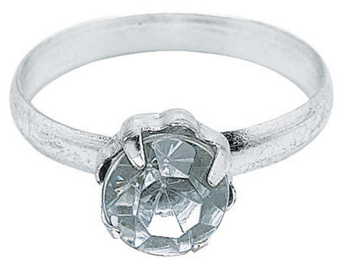 """Engagement Rings .75"""" 12/Pkg-Silver -W6115"""