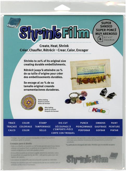 "Shrink Film 8.5""X11"" 6/Pkg-Super Sanded -KSF6-S - 096701144327"