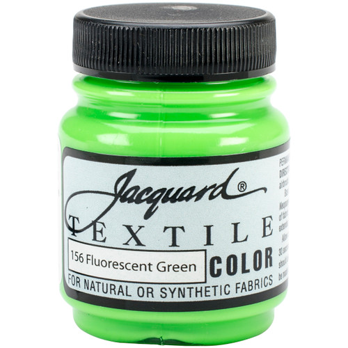 Jacquard Textile Color Fabric Paint 2.25oz-Fluorescent Green -TEXTILE-1156 - 743772115601
