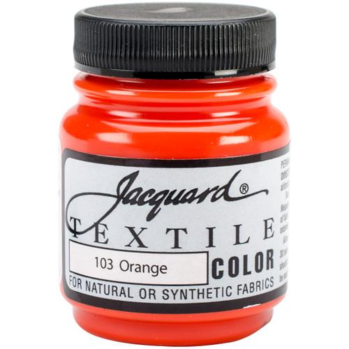 Jacquard Textile Color Fabric Paint 2.25oz-Orange -TEXTILE-1103 - 743772110309