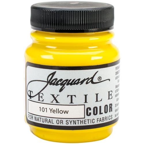 Jacquard Textile Color Fabric Paint 2.25oz-Yellow -TEXTILE-1101 - 743772110101