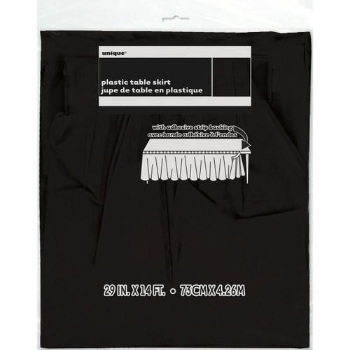 """Plastic Tableskirt 29""""X14'-Black -TBLSK14-50062 - 011179500628"""