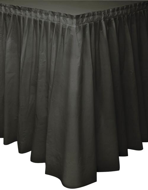 """Plastic Tableskirt 29""""X14'-Black -TBLSK14-50062"""