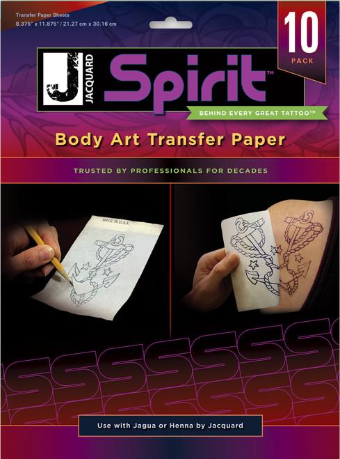 "Body Art Transfer Paper 10 Sheets/Pkg-8.375""X11.875"" -JAC9725 - 743772031963"