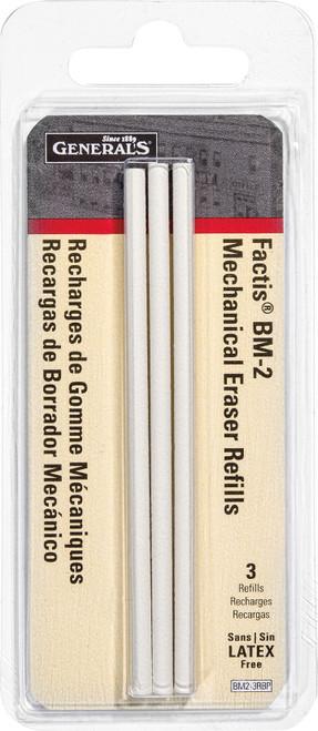 Factis Pen Style Mechanical Eraser Refills 3/Pkg-BM2-3RBP - 044974213233