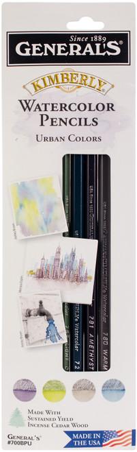 Kimberly Watercolor Pencils 4/Pkg-Urban -700BPU - 044974700214