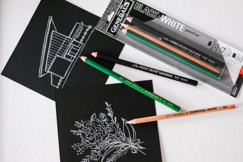 Black & White Pencil Set 3/Pkg-BWA-BP