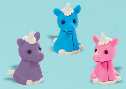Party Favors 12/Pkg-Unicorn Erasers -398205