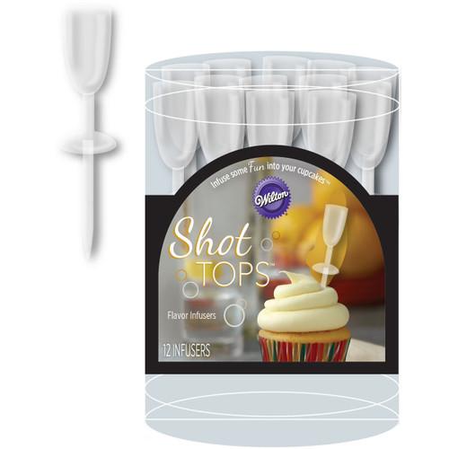 Shot Tops 12/Pkg-Champagne Flute -W4157182