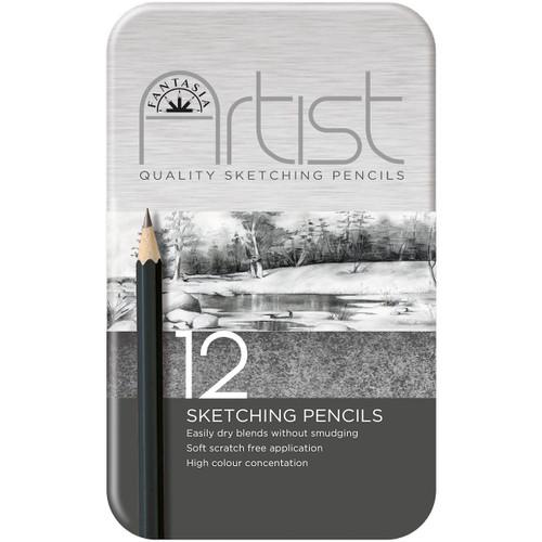 Fantasia Premium Sketching Pencil Set 12/Pkg-601020 - 0649846010285021851261018
