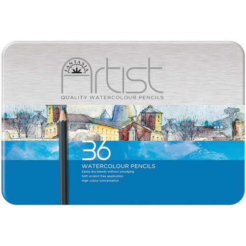 Fantasia Premium Watercolor Pencil Set 36/Pkg-601330 - 5021851200321