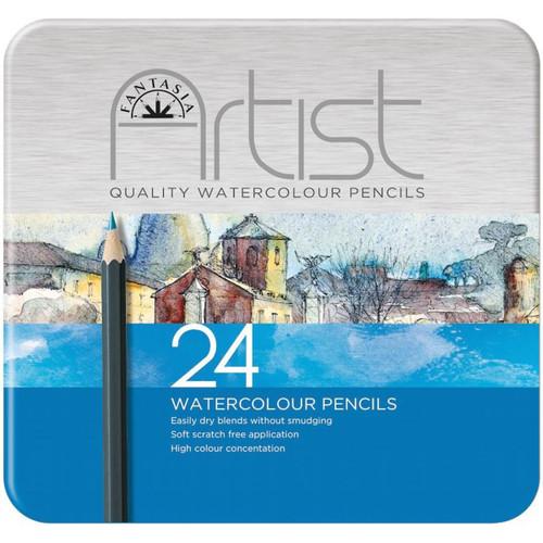 Fantasia Premium Watercolor Pencil Set 24/Pkg-601320 - 7640170910087