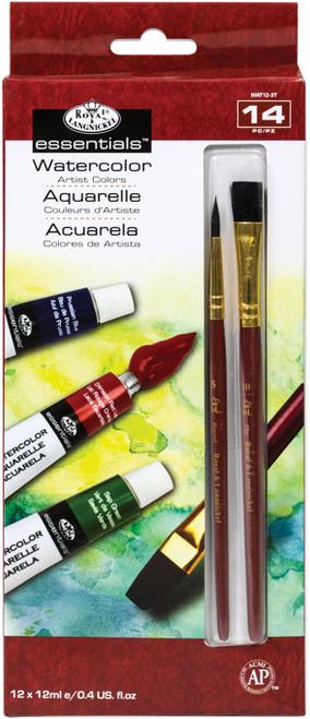 essentials(TM) Watercolor Paints 12ml 12/Pkg-Assorted Colors -WAT12 - 090672027818