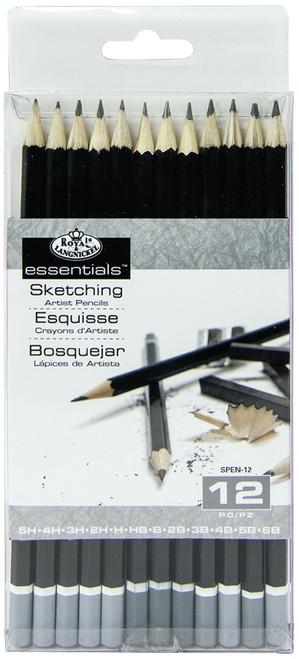 essentials(TM) Artist Sketching Pencils 12/Pkg-SPEN12 - 090672058102