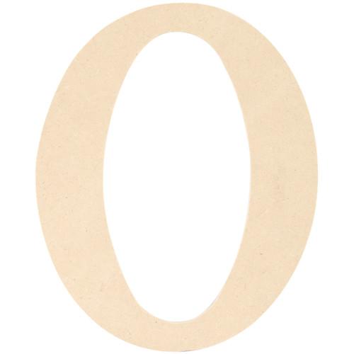 "MDF Classic Font Wood Letters & Numbers 9.5""-O -MDF9-L415 - 886946148316"